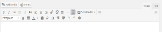 website editing panel