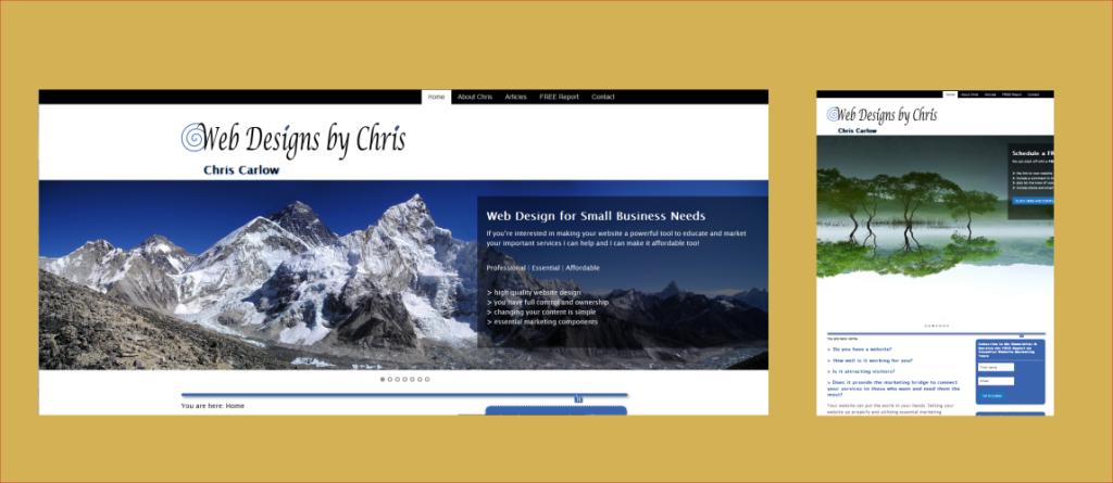 portfolio - web designs by chris